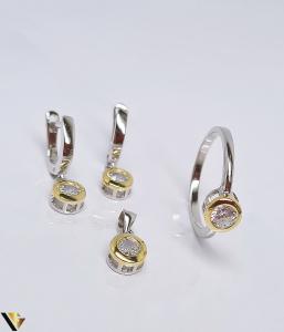 Set argint 925 format din cercei, inel si pandantiv , 6.10 grame (BC R)0
