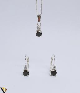 Set argint 925 format din cercei si pandantiv ,3.17 grame (BC R)0