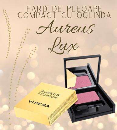 Fard de pleoape compact cu oglinda Aureus Lux
