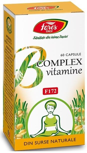 B Complex Vitamine F Fares 60 Caps   Fares - Sanatate
