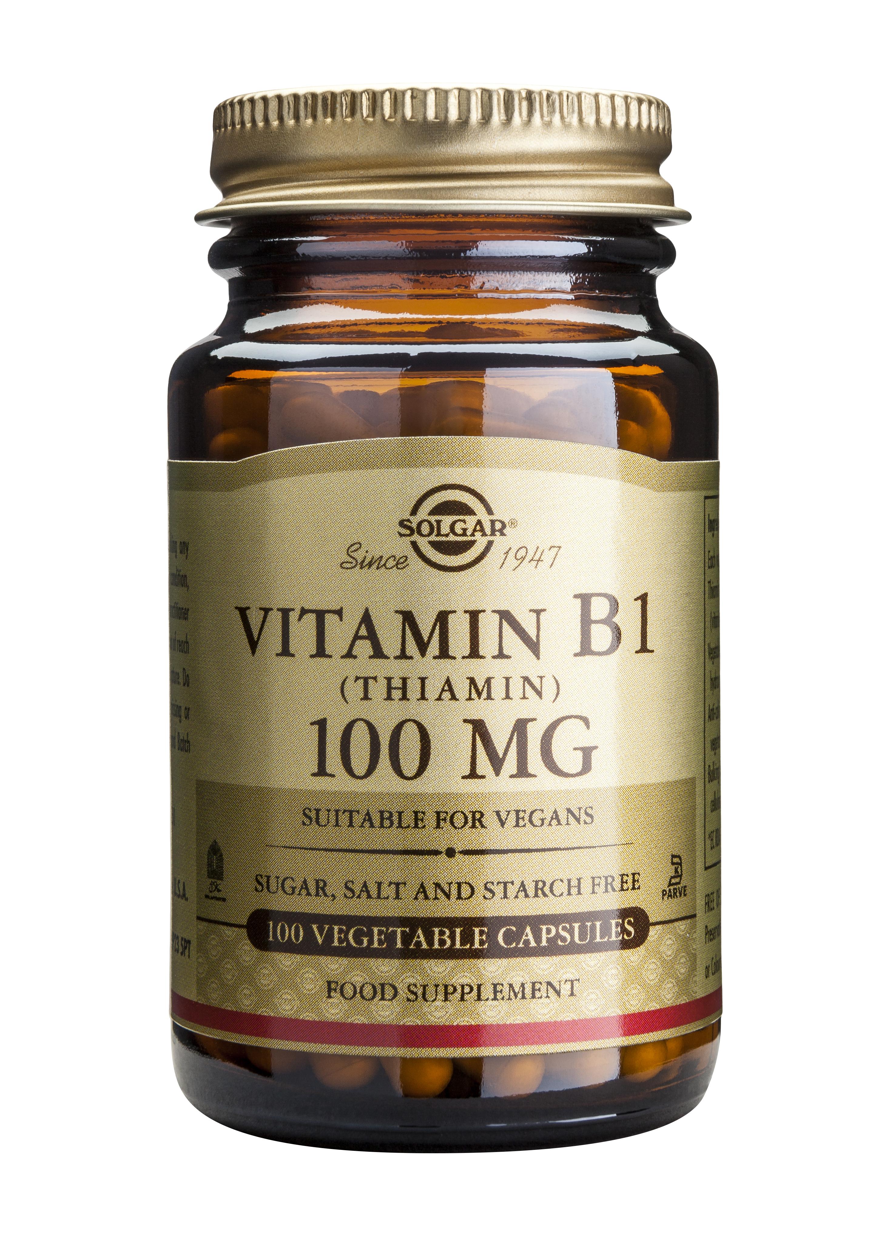 Vitamin B1 100mg 100 veg.caps. [0]