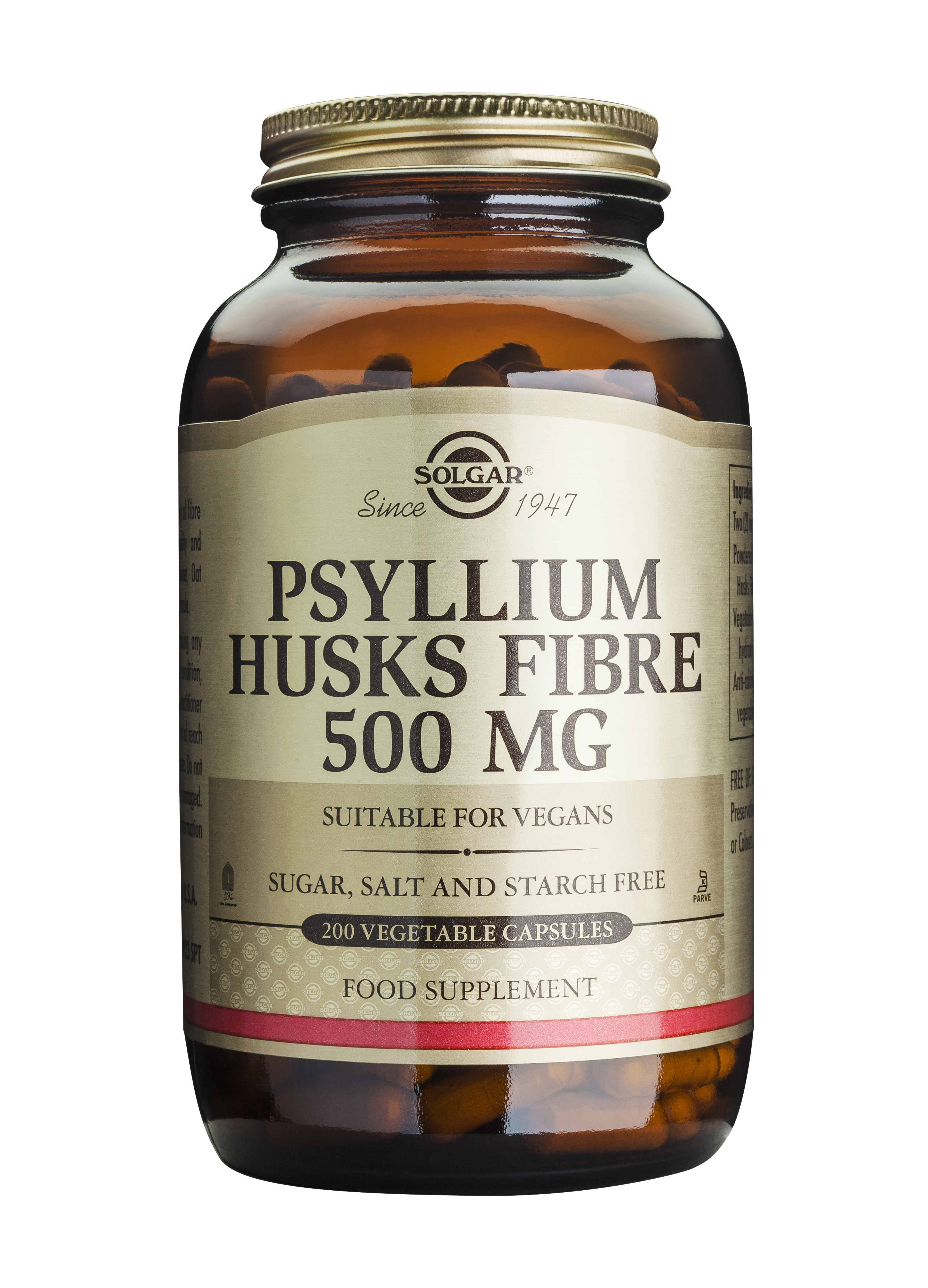 Psyllium Husks Fibre 500mg, 200veg caps [0]