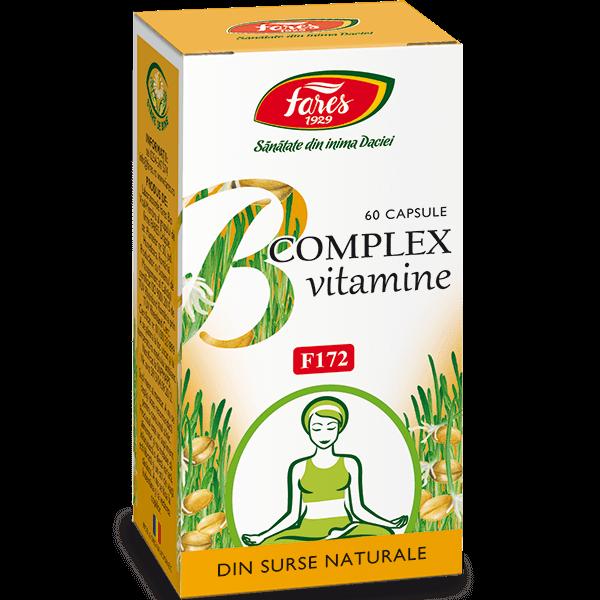 B Complex Vitamine Naturale Fares F172 60 buc 0