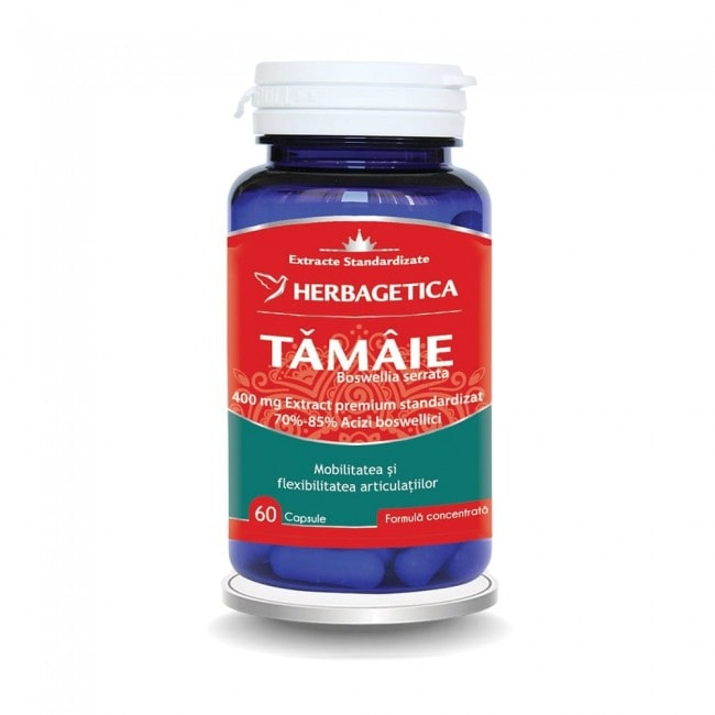 Boswellia Serrata - Extract de Tamaie Herbagetica 60 cps 0