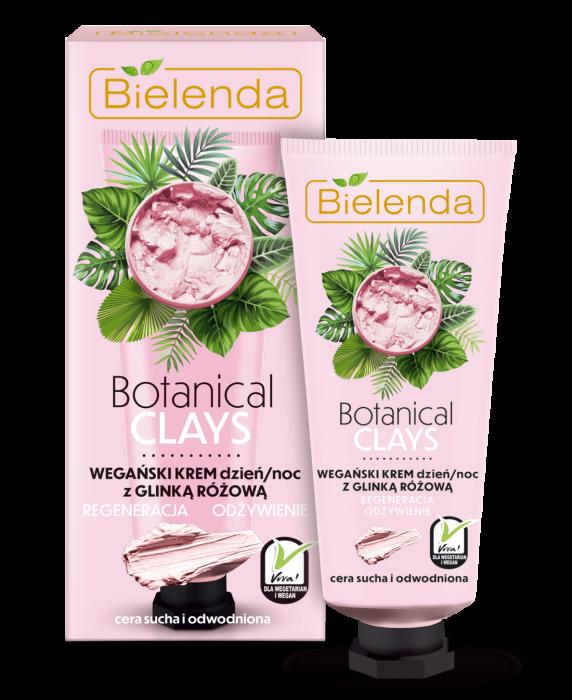 BOTANICAL CLAYS Crema Vegana de Fata cu Argila Roz Zi/Noapte  50 ml [0]