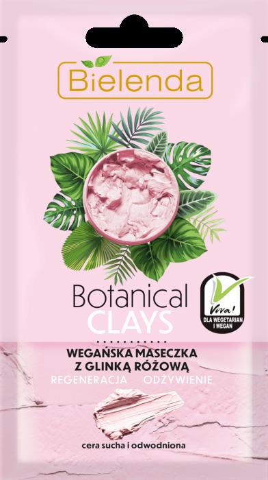BOTANICAL CLAYS Masca de Fata Vegana cu Argila Roz 8g [0]