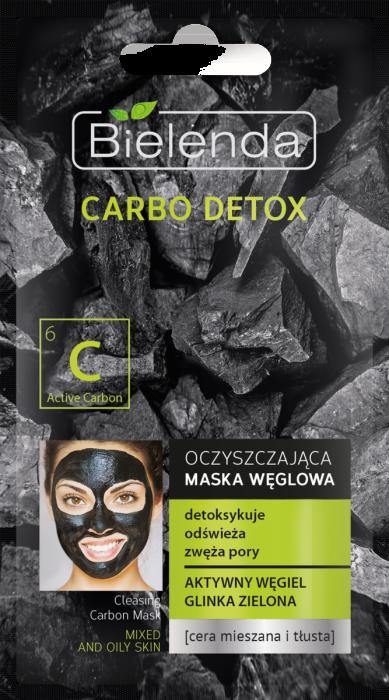 Carbo Detox Masca de fata cu Carbune Activ si Argila Verde pentru ten mixt  8g [0]