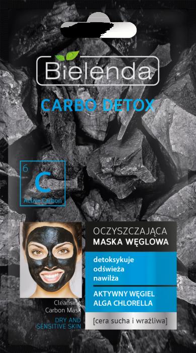 Carbo Detox Masca de fata cu Carbune Activ si Chlorela pentru ten uscat si sensibil 8g [0]