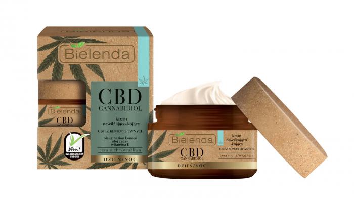 CBD CANNABIDIOL Crema de fata hidratanta si calmanta cu canabidiol CBD din seminte de canepa pentru ten sensibil si uscat 50ml [0]