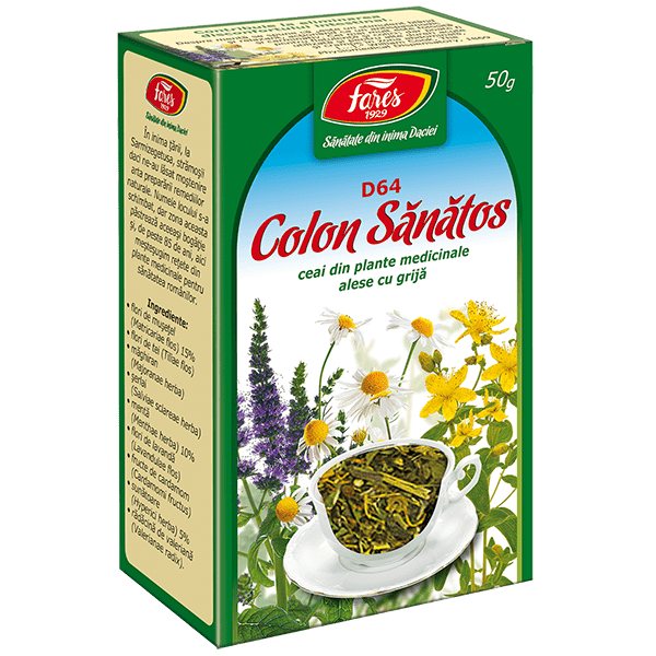 Ceai Colon Sanatos 50 g D64 Fares 0