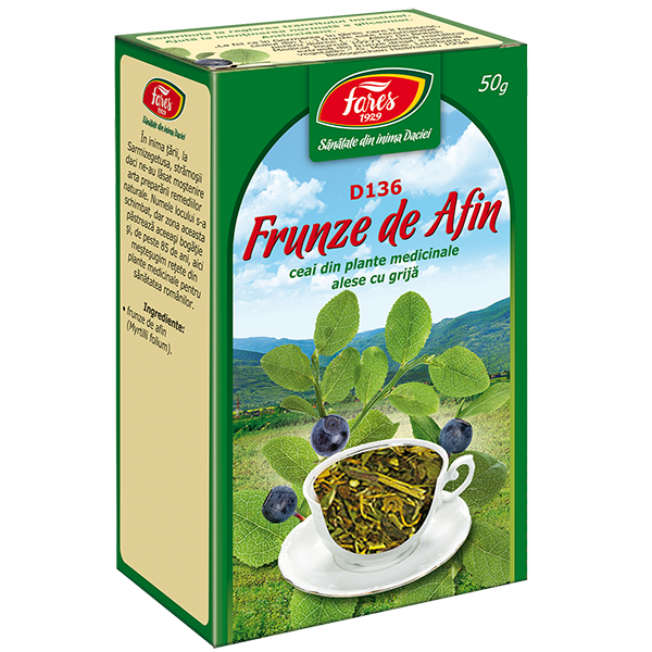 Ceai de Afine (Frunze) 50 g, punga, D136 Fares 0