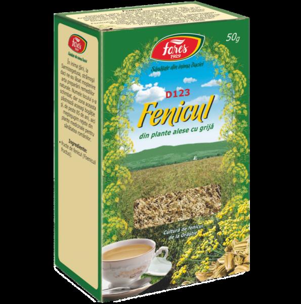 Ceai de Fenicul , 50 g, punga, D123, Fares 0