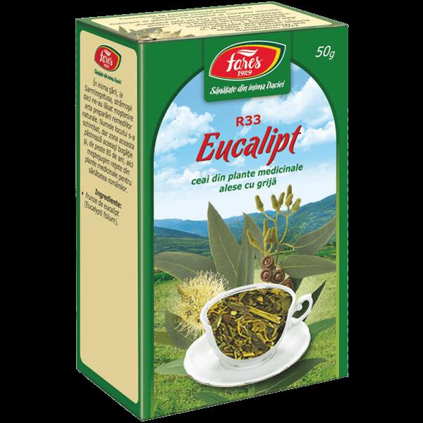 Ceai de Frunze de Eucalipt 50 g, punga, R33 , Fares 0