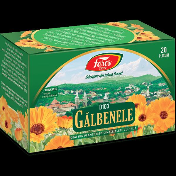 Ceai de Galbenele , 20 pliculete, D103, Fares 0