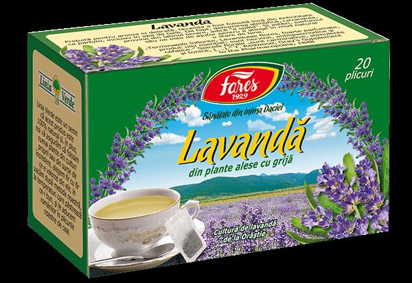 Ceai de Lavanda 20 pliculete, Fares 0