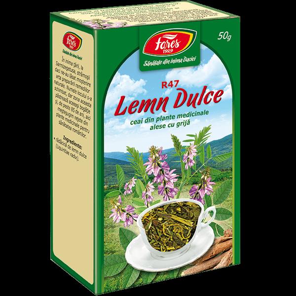 Ceai de Lemn Dulce (Radacina) 50 g, punga, R47 Fares [0]