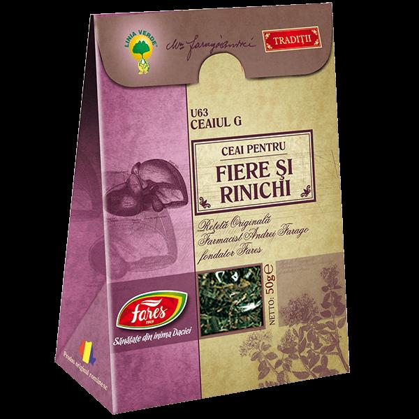 Ceai pentru Fiere si Rinichi (Ceaiul G) 50 g U63 Fares 0
