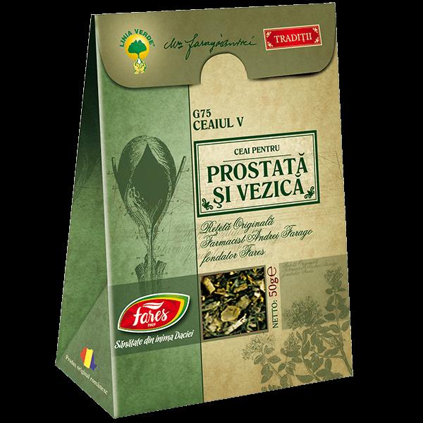 Ceai pentru Prostata si Vezica (Ceaiul V) 50 g G75 Fares 0