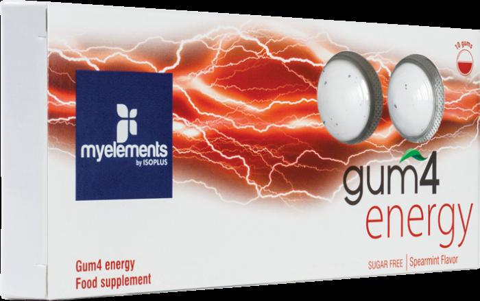 GUM4 ENERGY - Guma De Mestecat Fara Zahar 10buc [0]