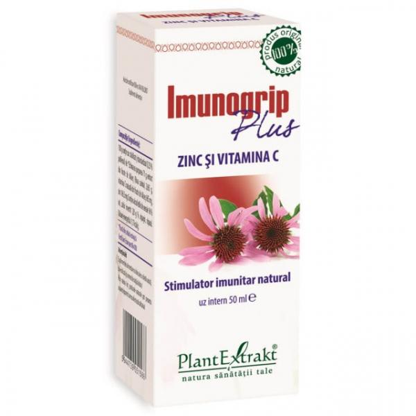 Imunogrip Plus Zinc si Vitamina C 50ml PlantExtrakt 0
