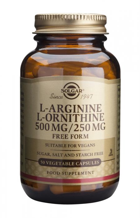 L-Arginine L-Ornithine 500/250mg 50 veg caps [0]