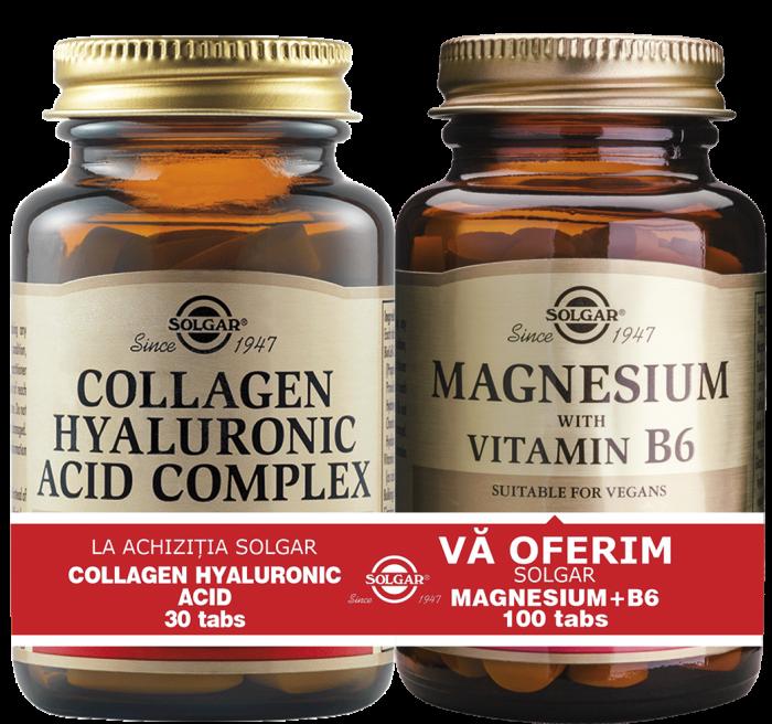 Pachet Collagen Hyaluronic Acid 120mg 30tablete + Magnesium cu B6 100 tablete CADOU [0]