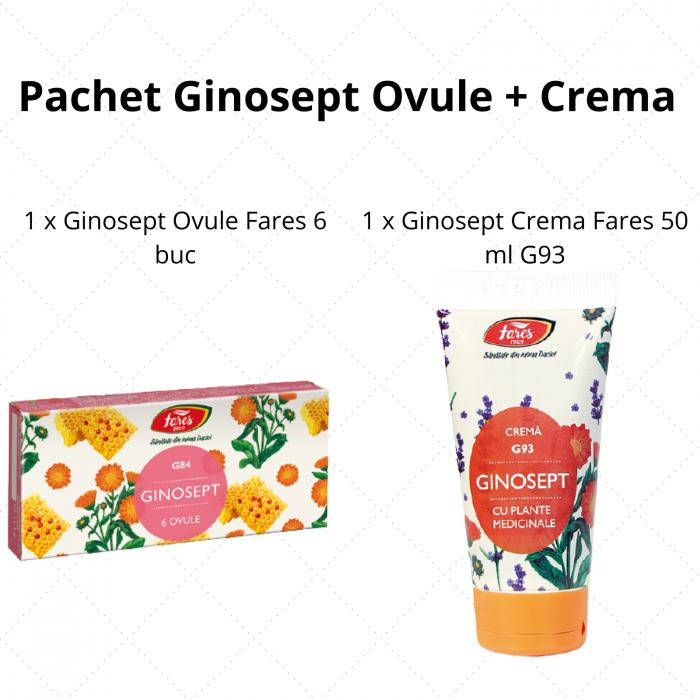 Pachet Ginosept Ovule + Crema Fares 0