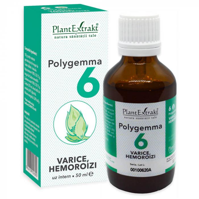 Polygemma 6 Varice Hemoroizi 50ml PlantExtrakt 1