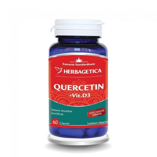 Quercetin + Vitamina D3 60 cps Herbagetica 0