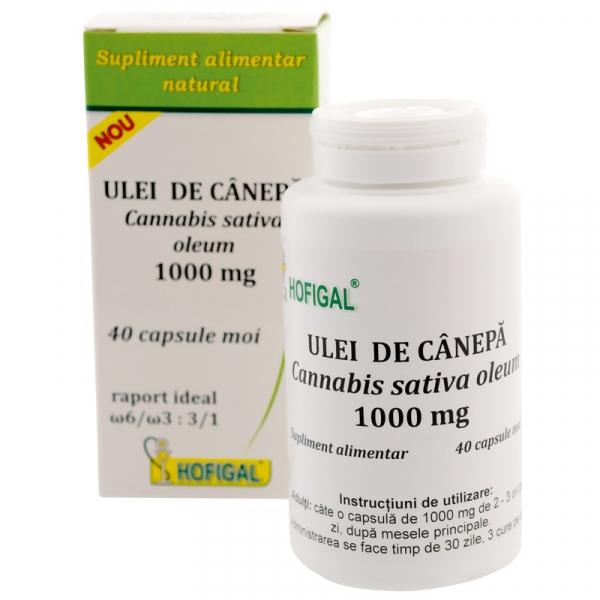 Ulei de Canepa Capsule 1000 mg Hofigal 40 buc 0