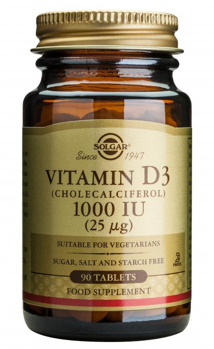 Vitamin D3 1000ui 90tablete [0]