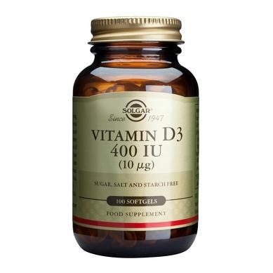 Vitamin D3 400 IU softgels 100s [0]
