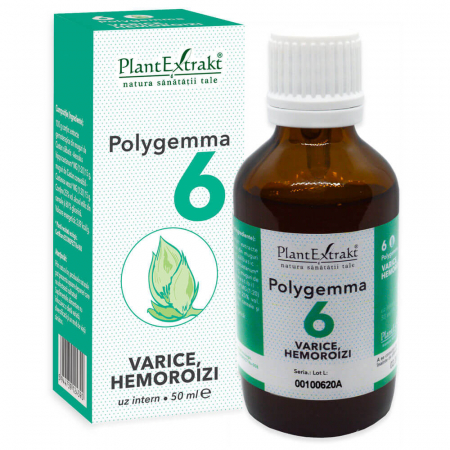 Polygemma 6 Varice Hemoroizi 50ml PlantExtrakt1