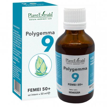 Polygemma 9 Femei 50+ 50ml PlantExtrakt1