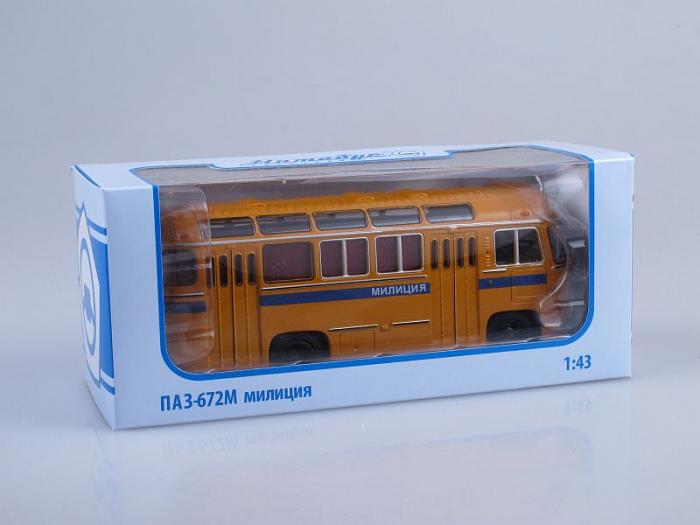 Macheta autobuz PAZ-672M Militia, scara 1:43 [1]