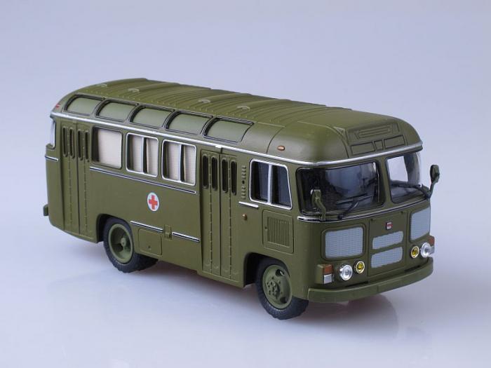 Macheta autobuz PAZ-672M ambulanta militara, scara 1:43 [0]