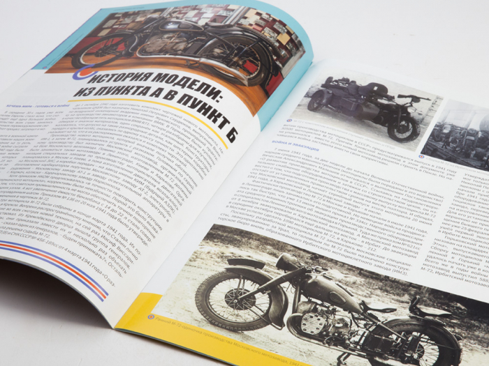 Macheta motocicleta ruseasca M-72, scara 1:24 [9]