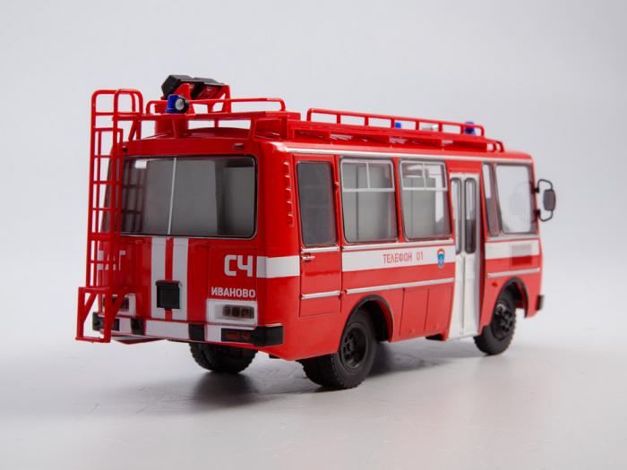 Macheta autobuz PAZ-3205 autospeciala de pompieri (AG-12), scara 1:43 [1]