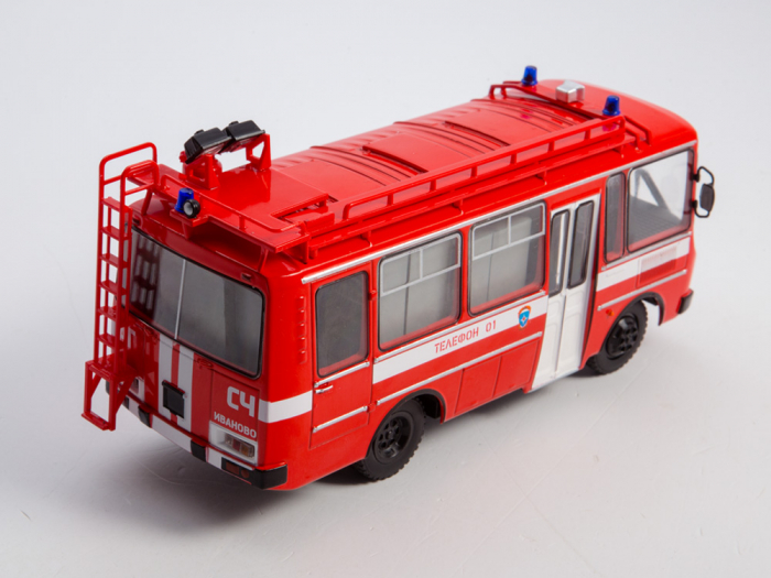 Macheta autobuz PAZ-3205 autospeciala de pompieri (AG-12), scara 1:43 [5]