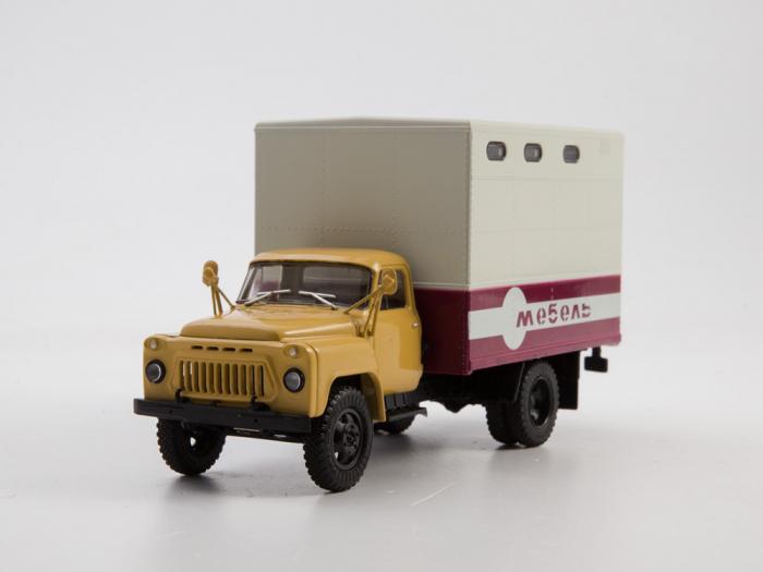 Macheta camion Gaz 52 duba de mobila, scara 1:43 [4]