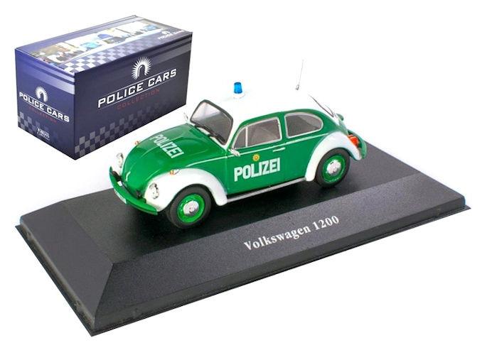 Macheta auto Volkswagen Beetle 1200 Polizei, scara 1:43 0