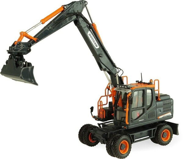 Macheta excavator pe pneuri Doosan DX160W, scara 1:50 1
