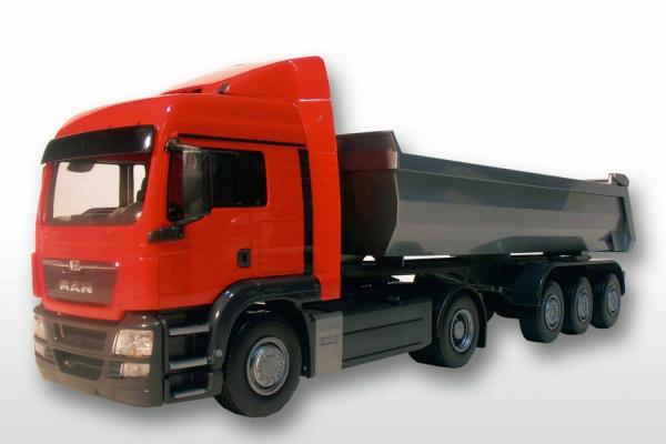 Camion MAN TGS LX cu semiremorca basculanta, scara 1:25 0