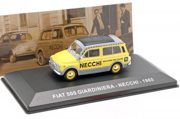 Macheta van Fiat 500 Giardiniera 1960, scara 1:43  -cu mic defect: vitrina fisurata 0