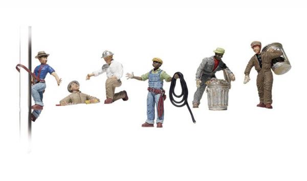 Figurine muncitori municipali, scara 1:48 0