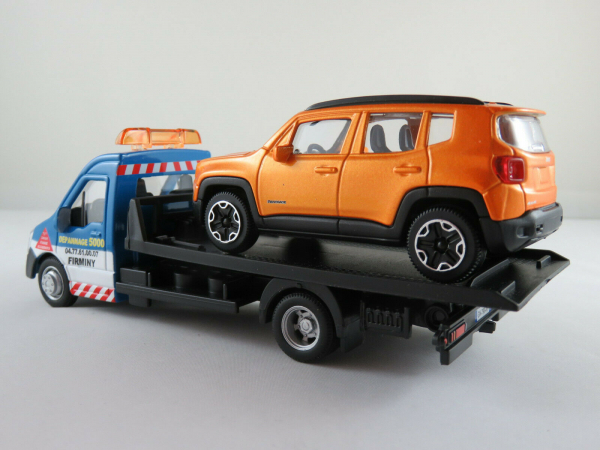 Macheta platforma depanare auto Iveco Daily si Jeep Renegade, scara 1:43 1