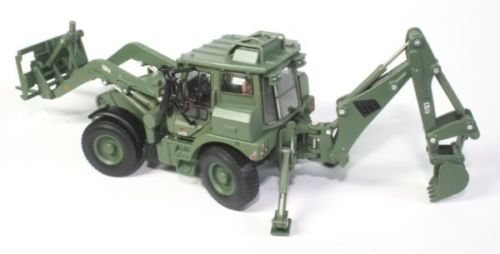 Macheta buldoexcavator militar JCB HMEE, scara 1:50 2