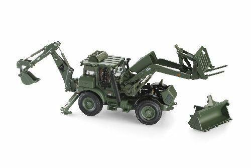 Macheta buldoexcavator militar JCB HMEE, scara 1:50 3