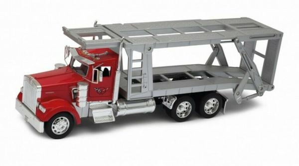 Macheta ccamion transportor auto Kenworth W900 6x4, scara 1:32 0