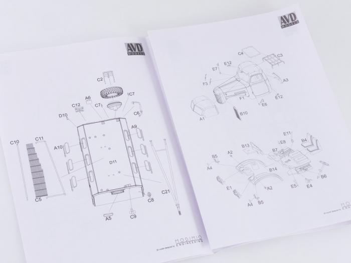 Kit macheta atelier mobil ZIL-157K, scara 1:43 [12]